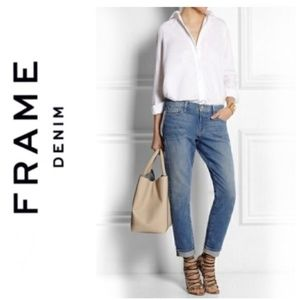Frame Le Garçon Slim Boyfriend Jeans